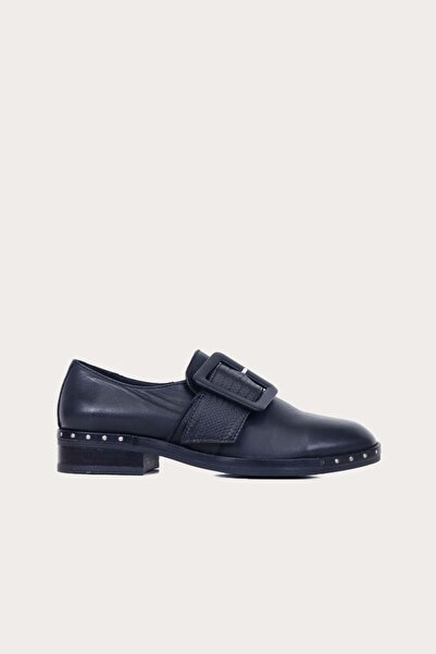 Bueno Shoes Kadın Siyah Deri Düz Babet