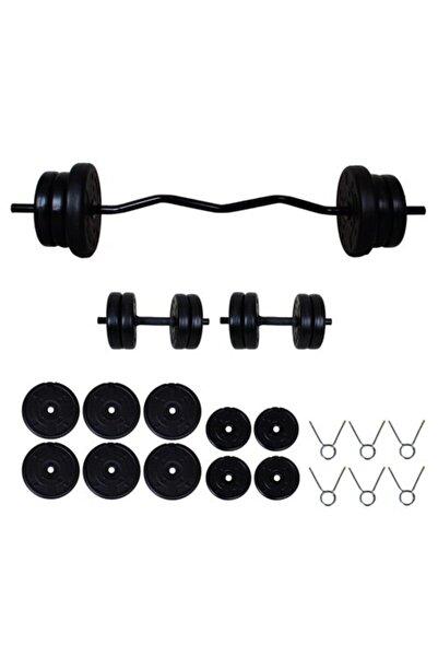 Aydın Sport Siyah Z Bar Halter Ve Dambıl Seti 45 kg