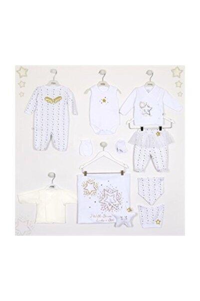 İmaj Lıttle Stars Tulumlu  10 Lu Kız Set Beyaz