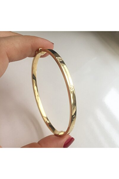 simurg jewellery Kadın Sarı Gümüş Taşlı Bilezik