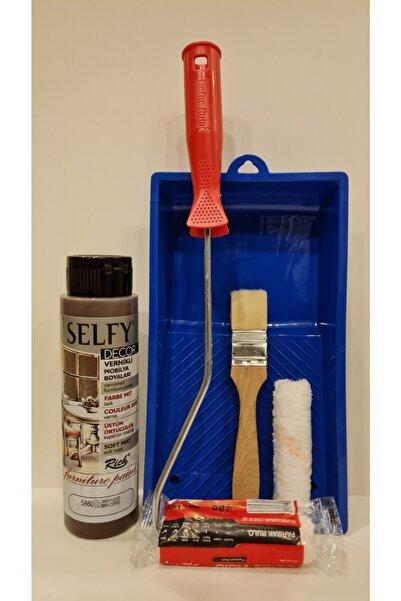 Rich Selfy Decor 500 Cc (750 Gr) Kahverengi Colombıa Kendinden Vernikli Dolap Boyama Seti