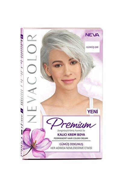 NEVA KOZMETİK Nevacolor Premium Kalıcı Krem Set Boya Gümüş Gri