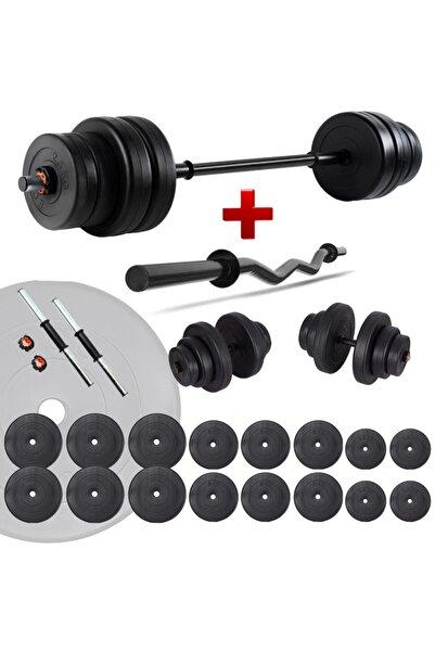 ECG Spor 108 Kg Z Bar Halter Seti Ve Dambıl Seti Ağırlık Fitness Seti