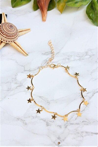 Lal Gold Kaplama Yıldız Motifli Halhal