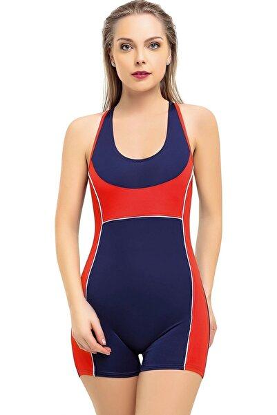 Argisa Kadın Lacivert Modelli Şortlu Yüzücü Mayo