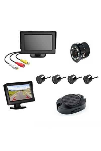 Mfk Kameralı Park Sensörü 4.3' Komple +4 Adet Siyah Sensör