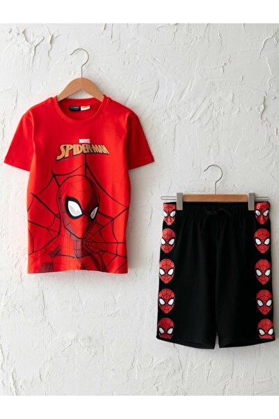 LC Waikiki Erkek Çocuk Kırmızı Spiderman Baskılı Alt Üst Takım