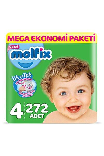 Molfix Bebek Bezi 4 Beden Maxi Mega Ekonomi Paketi 272 Adet