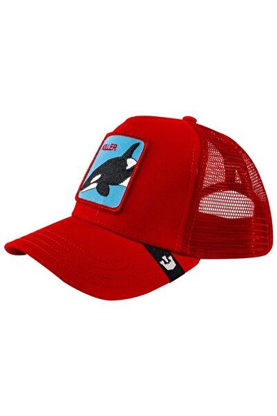 Goorin Bros Unisex Kırmızı Killer Whale Şapka 101-0626