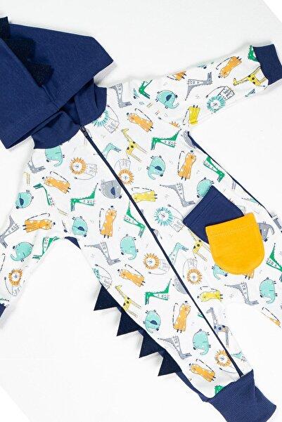 BabyWorldStore Unisex Yellow Zoo Bebek Tulumu