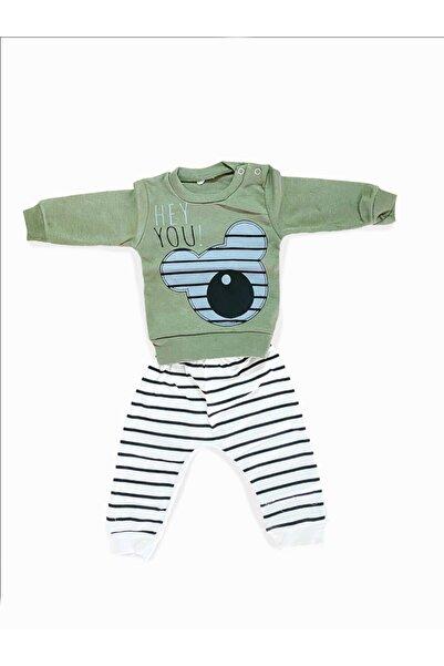 Babycan Erkek Bebek Haki Baskılı Takım