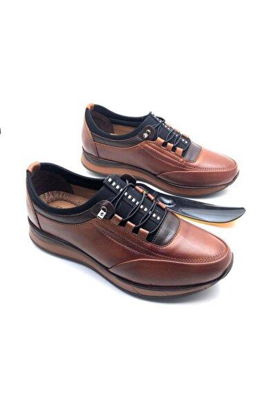 Derilax Erkek Kahverengi Hakiki Deri Tam Ortopedik Ayakkabı