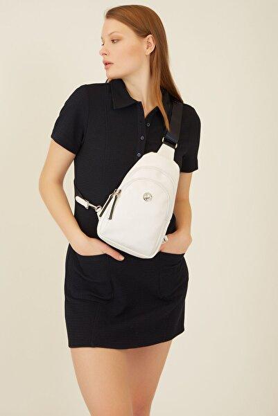 U.S. Polo Assn. Beyaz Kadin Sirt Çantasi Us8282