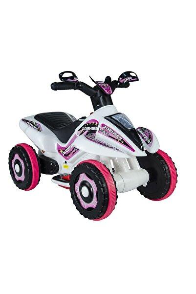 UJ Toys 6v Akülü Atv Pembe Beyaz