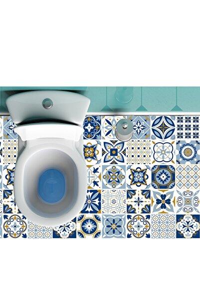 Kolhis 100cmx325 Suya Dayanıklı Banyo Zemin Mozaik Mermer Fayans Duvar Duşakabin Yapışkanlı Folyo Kaplama