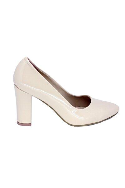 PUNTO Kadın Bej Rugan Klasik Topuklu Ayakkabı