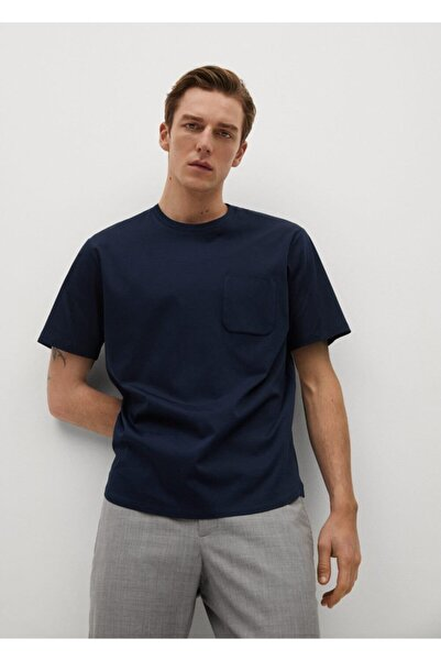 MANGO Man Cepli Pamuklu Tişört