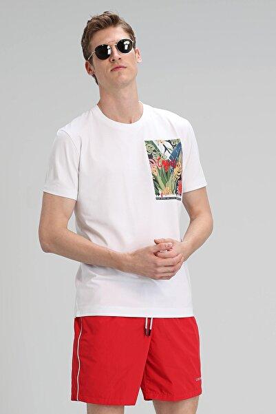 Lufian Monato Modern Grafik T- Shirt Beyaz