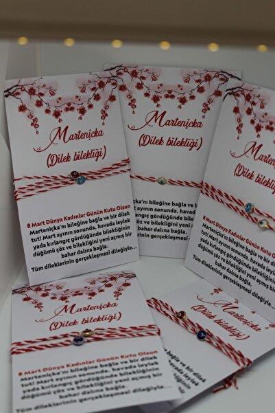 pijamaaskim 8 Mart Dünya Kadınlar Günü / Nazar Boncuklu Marteniçka Bileklik - Dilek - Şans Bilekliği 2'li