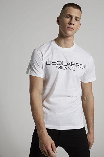 DSquared2 Milano Baskılı Beyaz Tişört