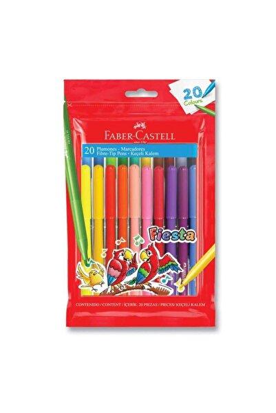 Faber Castell Fiesta Keçeli Boya Kalemi 20'li Poşet