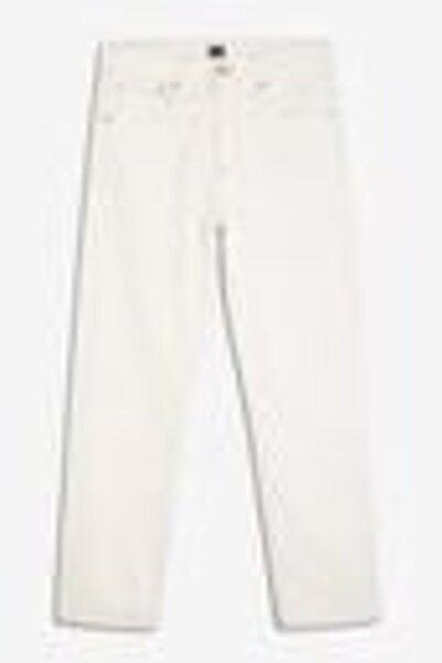 GAP Kadın Beyaz Yüksek Belli Straight-fit Jean Pantolon