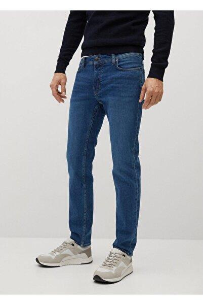 MANGO Man Koyu Soluk Yıkama Dar Kesim Jan Jean Pantolon
