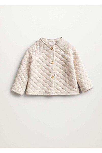 MANGO Baby Düğmeli Dokuma Ceket