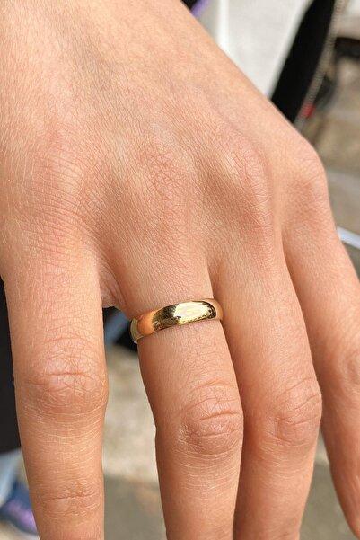 Bayar Gold Kadın Sarı 4 mm Alyans Yüzük