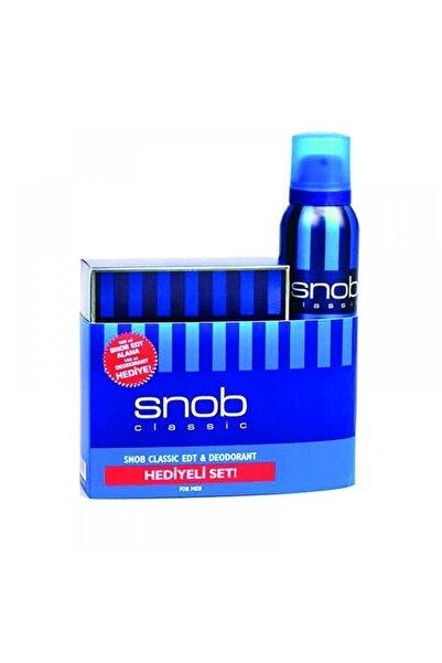 Snob Classic Edt 100 ml Erkek Parfümü + 150 ml Deodorant Set 7290000001092