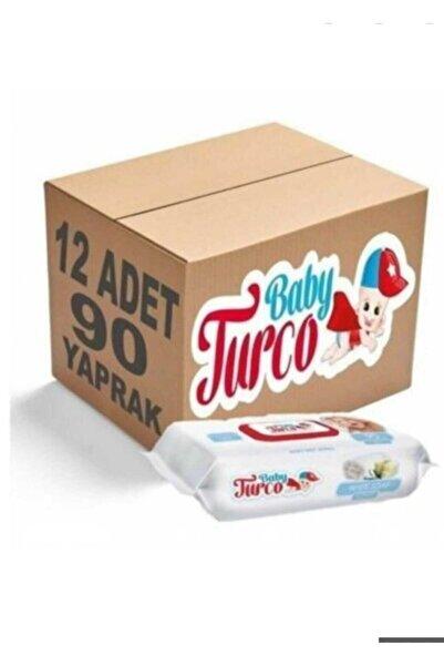 Baby Turco Baby Turko Beyaz Sabun Kokulu Islak Mendil 12 Adet 12x90