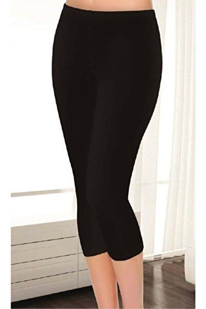 Tutku Kadın Bulut Fashion 2102 Elit Siyah Modal Kapri Tayt