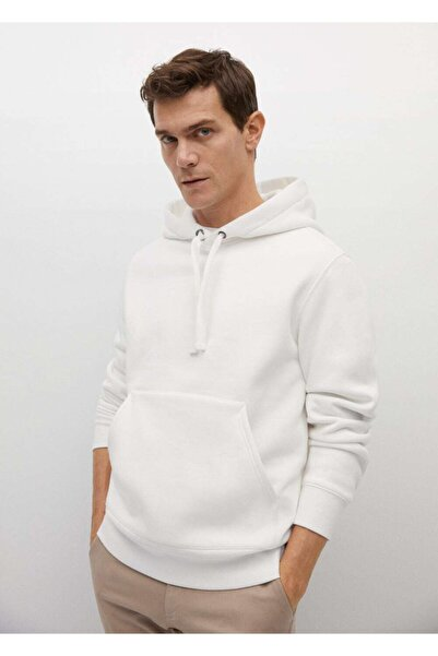 MANGO Man Kapüşonlu Koton Sweatshirt