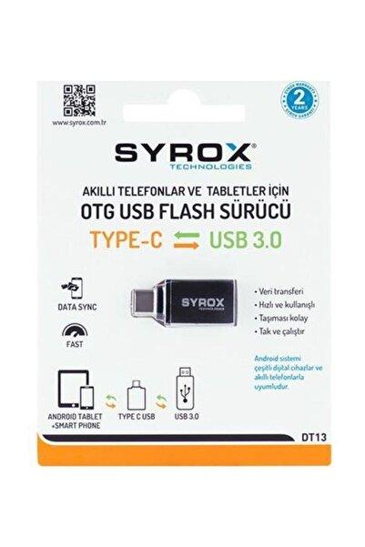 Syrox Usb-3 Den Type-c Ye Dönüştürücü Otg Dt13