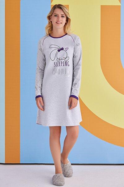 ROLY POLY Kadın Gri Gecelik Elbise Pijama 1377