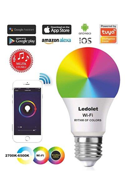 LEDOLET Akıllı Smart Wıfı Ritim Müzik Uyumlu Renk Değiştiren 9w Led Ampul