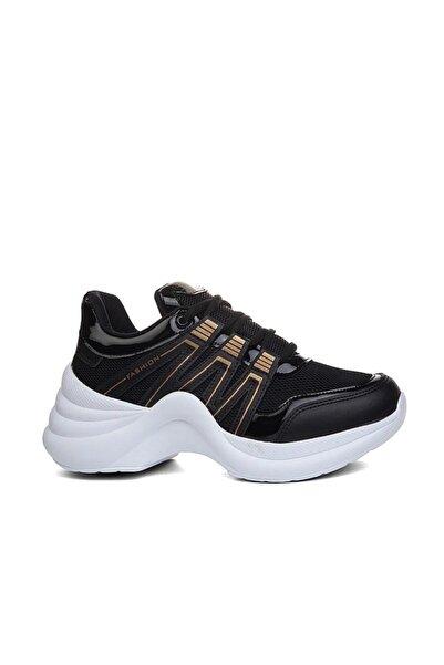 Twingo Kadın Siyah Yüksek Taban Spor Ayakkabısı
