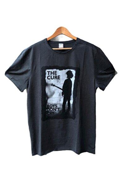 Kayrakarakutu Unisex Gri The Cure Unisex Yıkamalı Rock Tişört