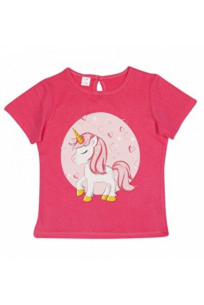 Soobe Kız Çocuk Fuşya Kısa Kollu Tshirt