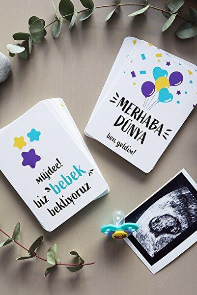 Alâhane 55'li Hamile Ve Bebek Anı Kartı - Hamilelik Ve Bebek Fotoğraf Çekim Anı Kartları 2'li Set