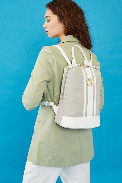 U.S. Polo Assn. A.Grı-Beyaz Kadın  Sırt Çantası Us3040
