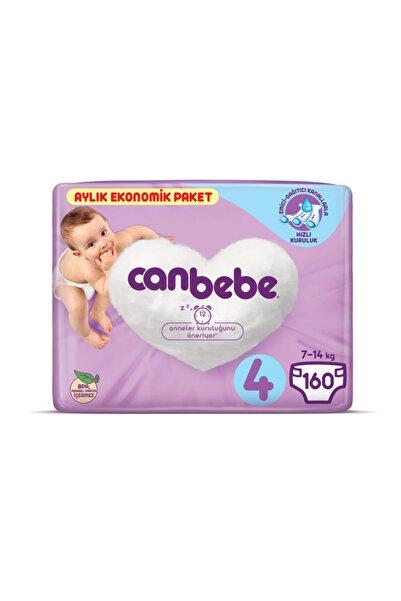 Canbebe Bebek Bezi 4 Beden Maxi Aylık Ekonomik Paket 160 Adet