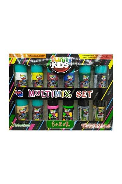 funny kids Multimix Akrilik Boya 12 Renk x 20 ml Set