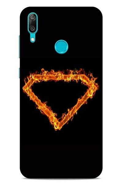 Lopard Huawei Y7 Prime 2019 Uyumlu Kılıf Firex (49) Ultra Silikon Kılıf Superman
