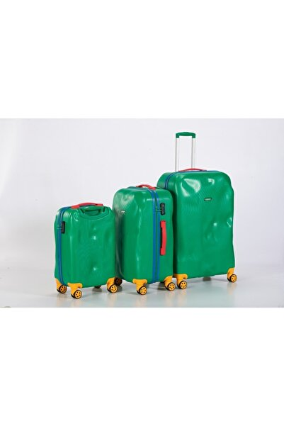 United Colors of Benetton Yeşil  Valiz Seti 3'lü