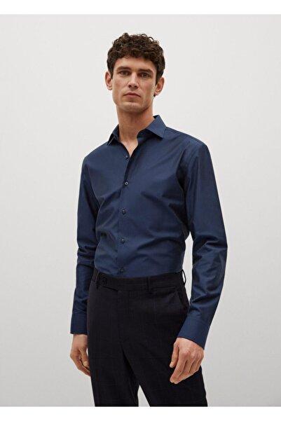MANGO Man Dar Kesim Tailored Pamuklu Gömlek