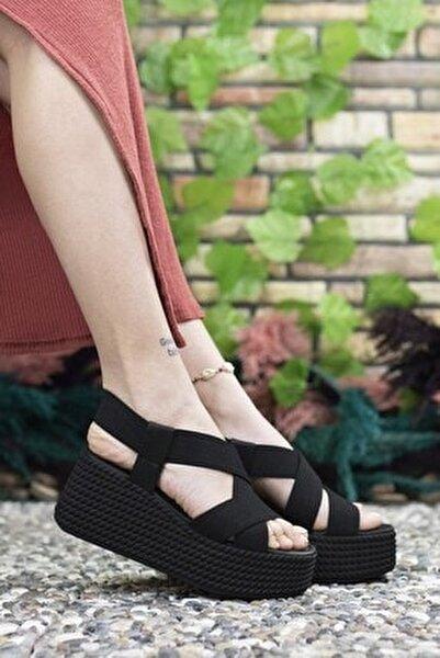 Kadın  Siyah Yüksek Topuklu Sandalet 0012460