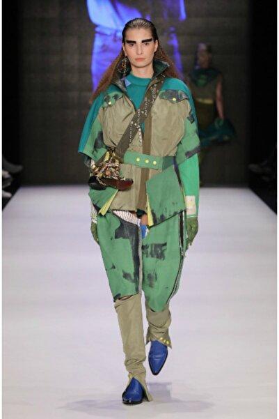Futuristiklover Kadın Yeşil Kovboy Pantolon
