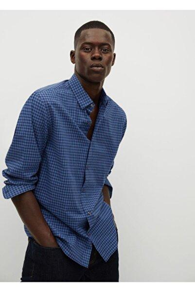 MANGO Man Erkek Mavi Gömlek 77035912