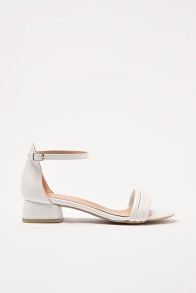 Beyaz Kadın Sandalet 01SAY209500A900
